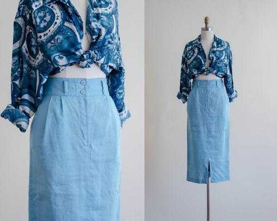 turquoise pencil skirt | long pencil skirt