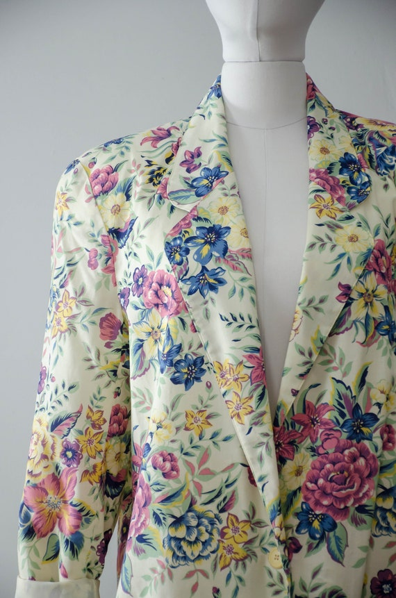 oversized floral blazer | boxy blazer | boxy flor… - image 3