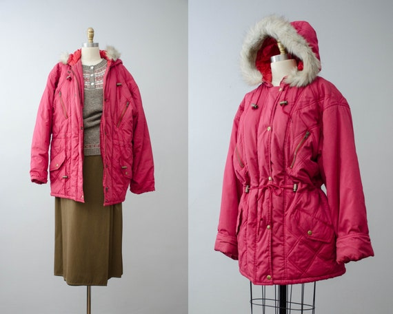 puffy quilted coat | pink quilted jacket | puffer