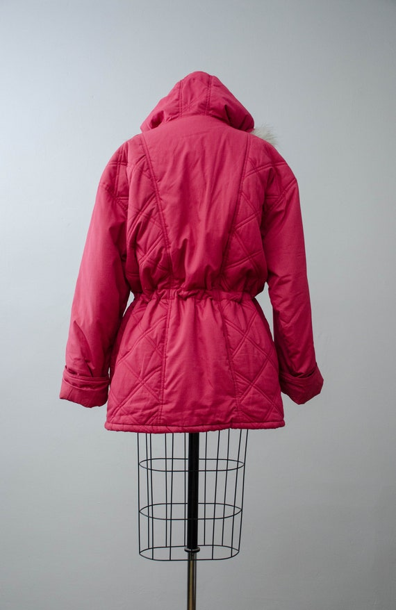 puffy quilted coat   pink quilted jacket   puffer… - image 10