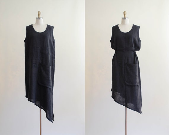 black linen dress | oversized linen dress | Marc A