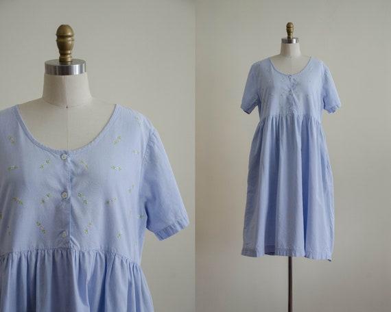 blue oversized dress | blue midi dress