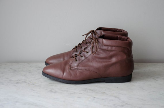 brown ankle boots | brown leather boots | women's