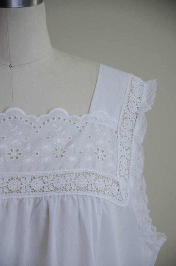 white eyelet nightgown | eyelet lace nightgown - image 4
