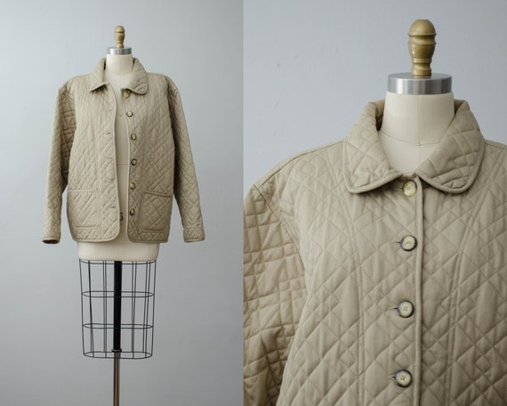 quilted jacket | khaki quilted coat