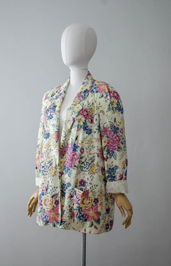 oversized floral blazer | boxy blazer | boxy flor… - image 4