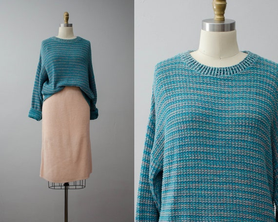 Teal Traina sweater | teal pullover sweater