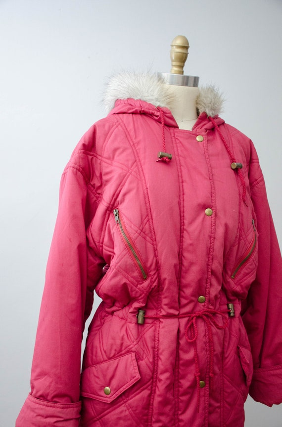 puffy quilted coat   pink quilted jacket   puffer… - image 7