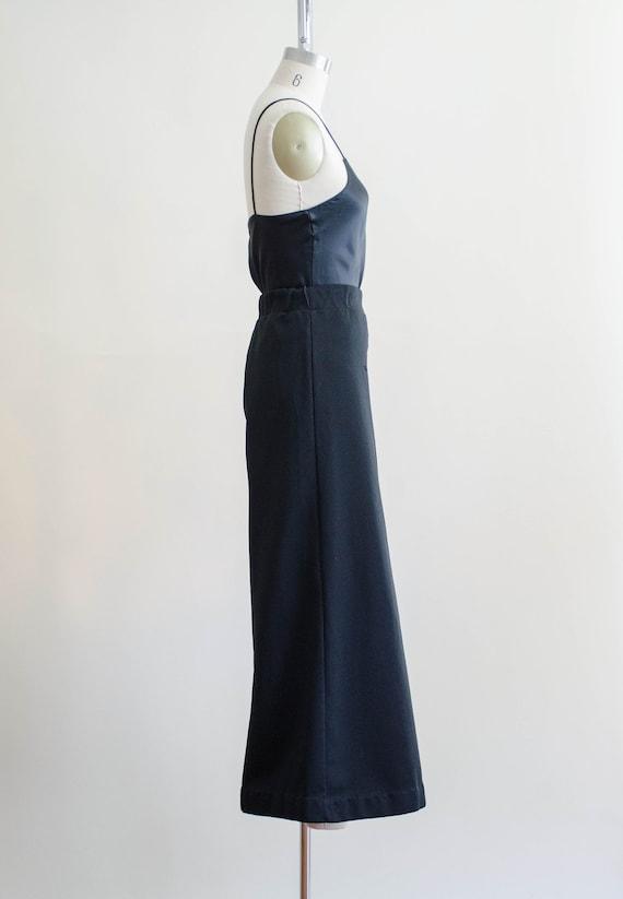 70s black wide leg pants | high waisted palazzo f… - image 5