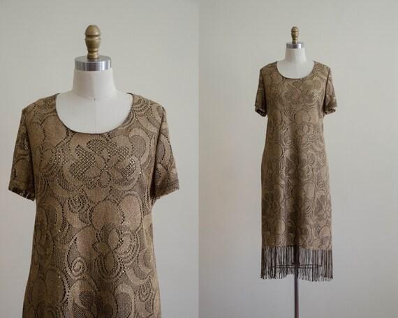 fringed crochet dress | boho dress
