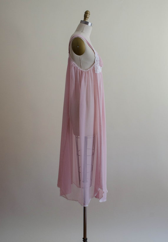 dreamy pink chiffon nightgown | empire waist nigh… - image 6