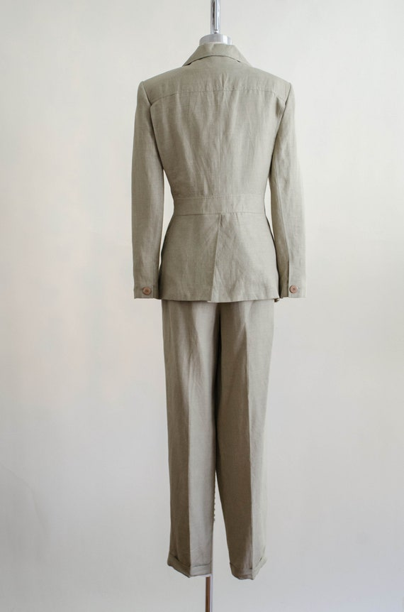 Giorgio Sant'Angelo linen suit   women's beige vi… - image 10