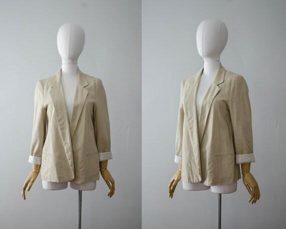 beige linen jacket | minimal linen jacket