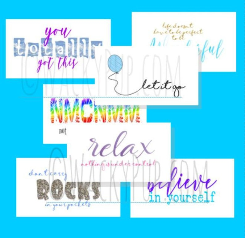 2 Sets of 10 Different Sayings for Type A Personalities image 0