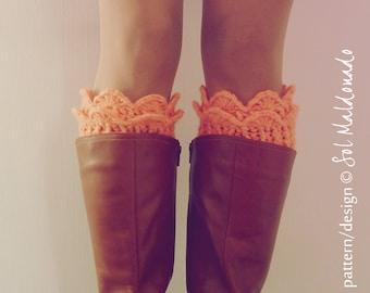 CROCHET PATTERN Boot Cuff Crochet - Winter  Woman Accessory - Lucy Leg Warmers, boot socks, boot topper, boot cuff - Instant DOWNLOAD