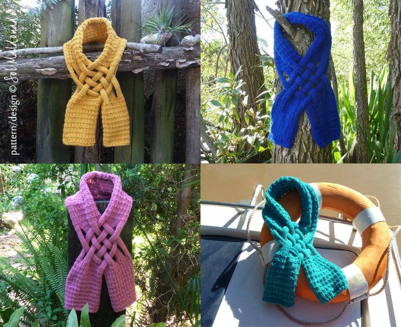 Knit Scarf Pattern Weave Knitting Pattern Woman Girl Man Etsy