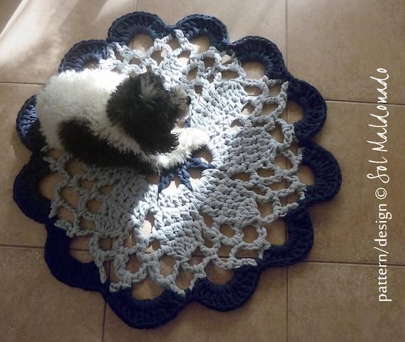 Crochet Pattern Rug Tarn Or Mandala Crochet Doily Pattern Etsy