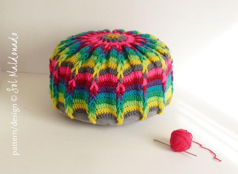 Crochet Pattern Crochet Pouf Mandala Crochet Pattern Pillow Etsy