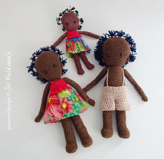 Crochet Pattern Black Doll Crochet Pattern Amigurumi Folk Etsy