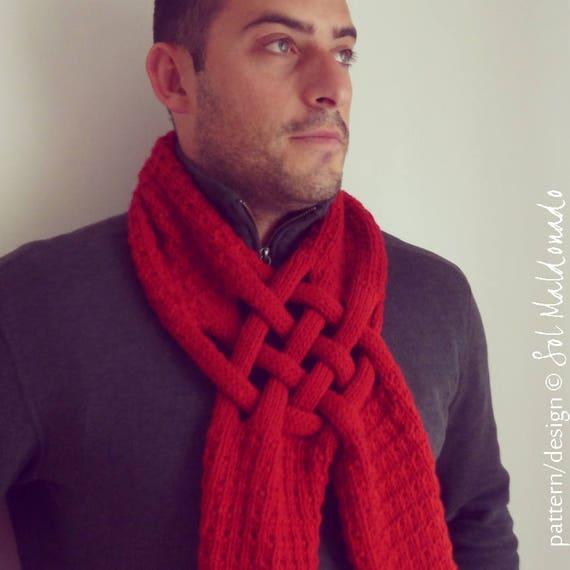 Knitting Pattern Scarf Weave Neck Warmer Man Woman Etsy