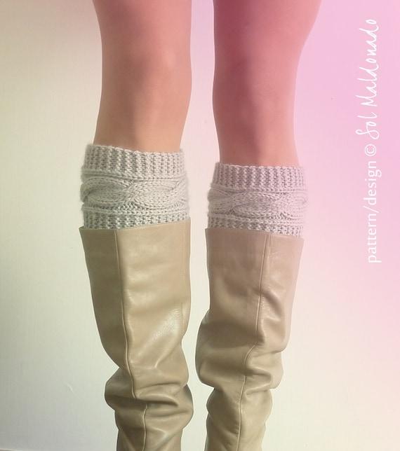 Knit Pattern Boot Cuff Pattern Boho Knits Boot Cuffs Leg Etsy