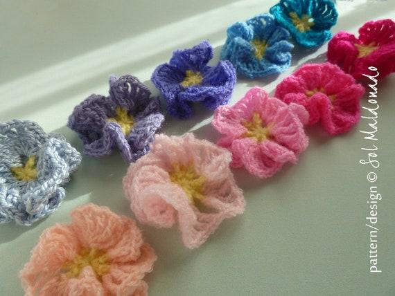 Crochet Pattern Flower Amelie Easy Beginner Photo Tutorial Etsy