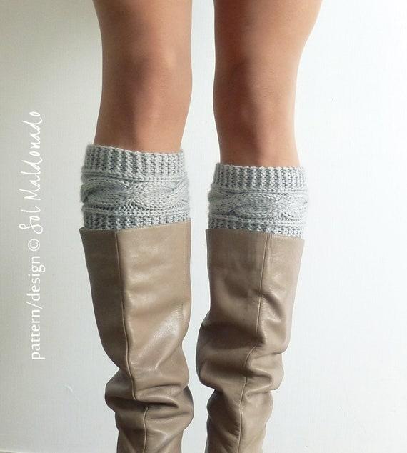 Knit Pattern Boot Socks Pattern Boho Knits Boot Cuffs Leg Etsy