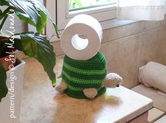 Crochet Pattern Toilet Paper Cover Or Hat Turtle Bathroom Etsy