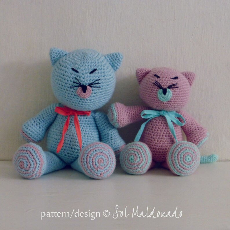 Instant Download Crochet Doll Pattern Kitty and Cat amigurumi Toy crochet pattern Crochet Pattern Cat Amigurumi Pattern