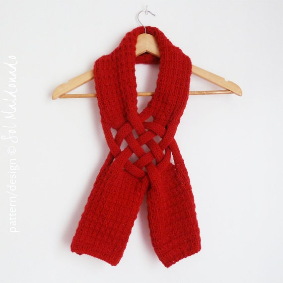 Christmas Scarf.Christmas Scarf Knit Pattern Weave Man Woman Adult Unisex Knitting Pattern Gift For Him Gift For Her Instant Download Knit Pattern