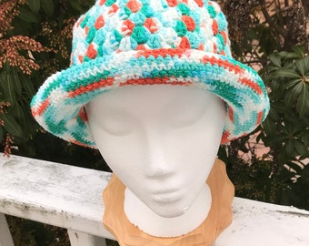 Crochet Women/'s Summer Hat More Colors Hand Crocheted Organic Linen /& Cotton Sun Hat in Natural Linen for Women Coral White Toffee