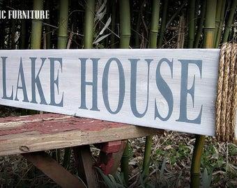 Lake House Wood Sign~ Wall Decor~ Art~Nautical~Coastal~CUSTOM COLORS