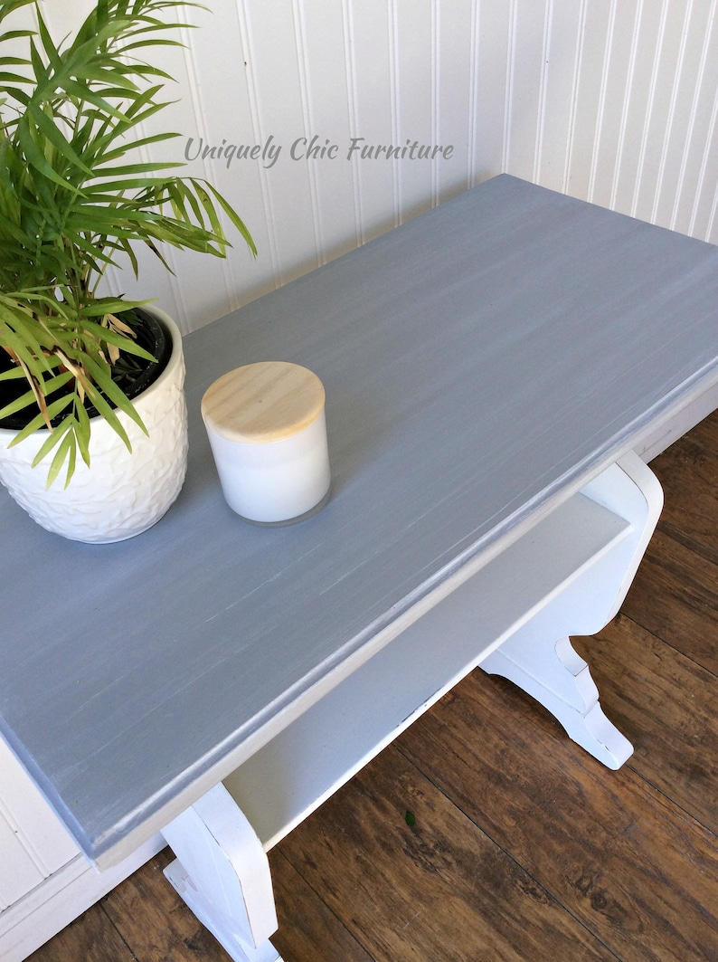 Farmhouse Style Table, Accent Table, Side table, White, Painted, Vintage  Table, Console Table
