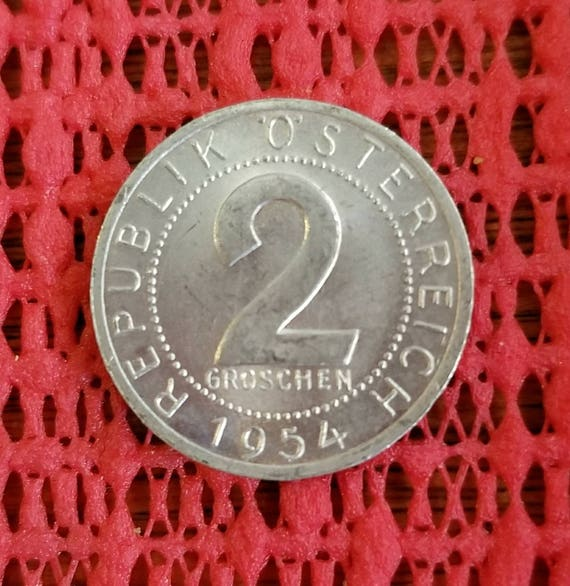 1965 Austria 2 groschen coin eagle