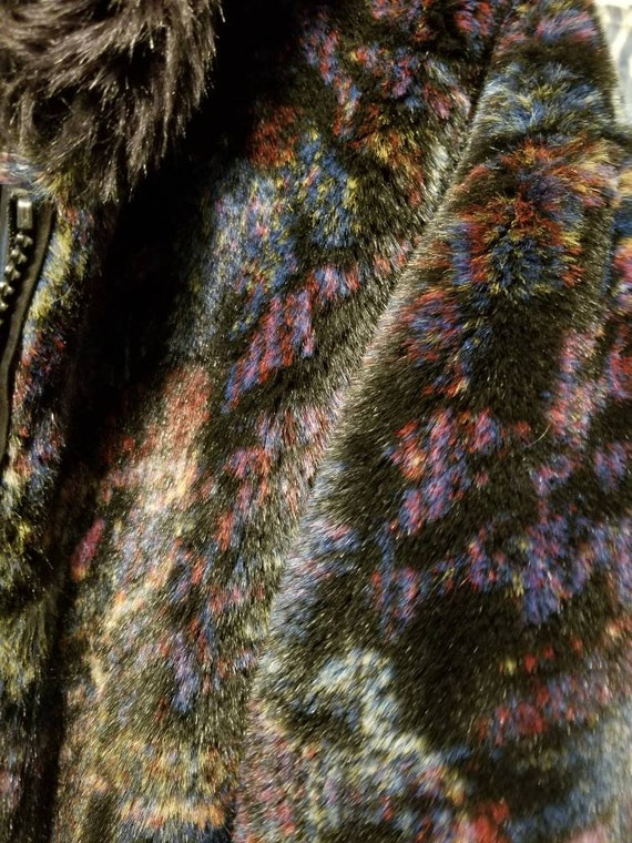 Stylish Multi-color soft hooded winter coat - image 4