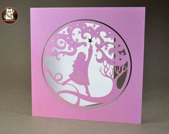 Reach for the Stars - Large Laser Cut Square Greetings Card by Paper Panda