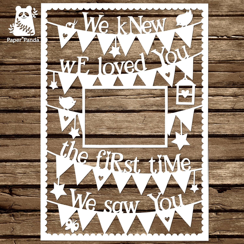 PAPER PANDA Papercut DIY Design Template - \'We Knew We Loved You The ...