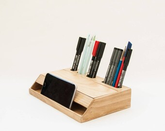 Organisateur de bureau bois classic bois bureau etsy