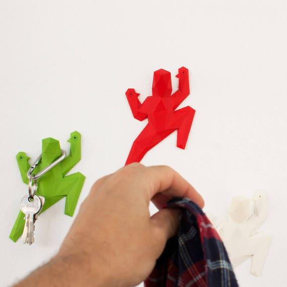 Plastic 3d Printed Modern Wall Hooks Geometric 3d Printing