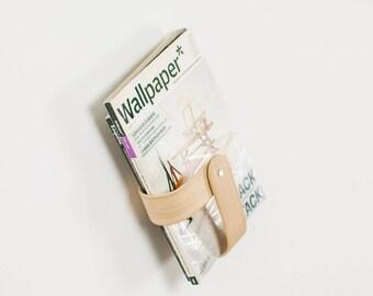 Portable hanging magazine rack - Wall mounted bookshelf - Modern hanging book rack - Wooden wall bookshelf - Hanging magazine holder