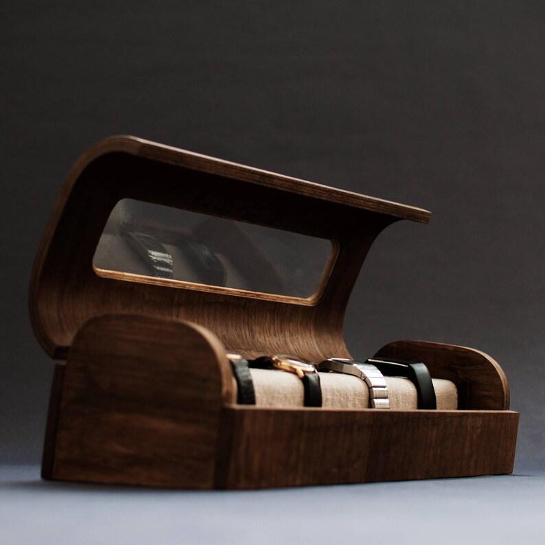 1736bc043f26 Relojero moderno de madera Estuche para relojes exclusivo