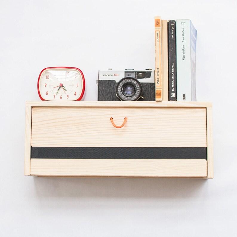 Boekenplank Met Lade.Hout Zwevend Nachtkastje Moderne Drijvende Plank Met Lade Etsy