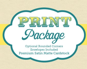 Professional Print Package Add-On // 4x6 or 5x7 Invitations - Free Envelopes - Sunnyside Print & Party