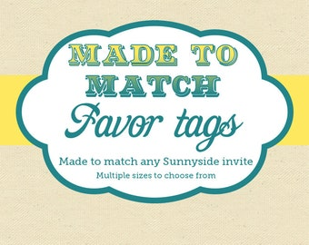 Favor / Gift / Thank You Tags - Made to Match - Printable