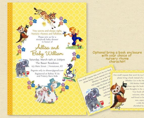 Baby shower nursery rhyme storybook invitation book baby etsy image 0 filmwisefo