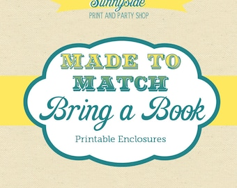 Bring a Book Printable + Baby Library Bookplates - Made to Match