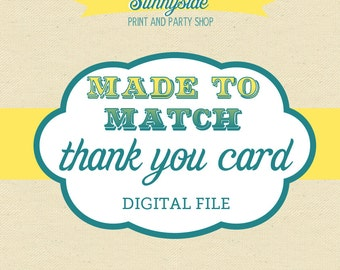 Made to Match - Digital Thank You Card