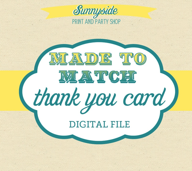 Made to Match  Digital Thank You Card image 0