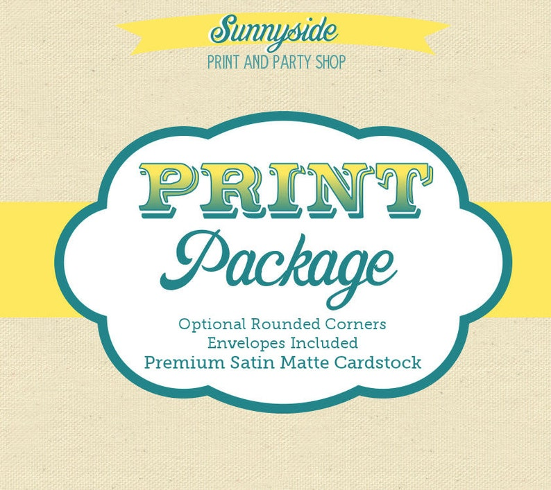 Professional Print Package Add-On // 4x6 or 5x7 Invitations  image 0