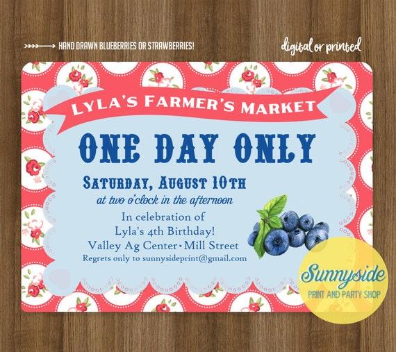 Blueberry Birthday Invitation